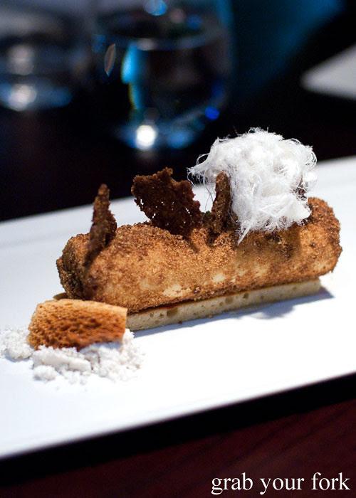 honey parfait dessert at black by teage ezard