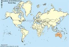 Kedudukan Australia Dlm Peta Dunia