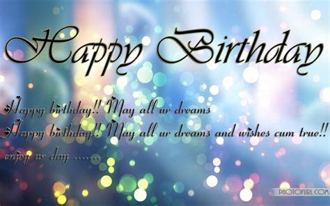 Happy Birthday Wishes Wallpapers   Free Wallpapers