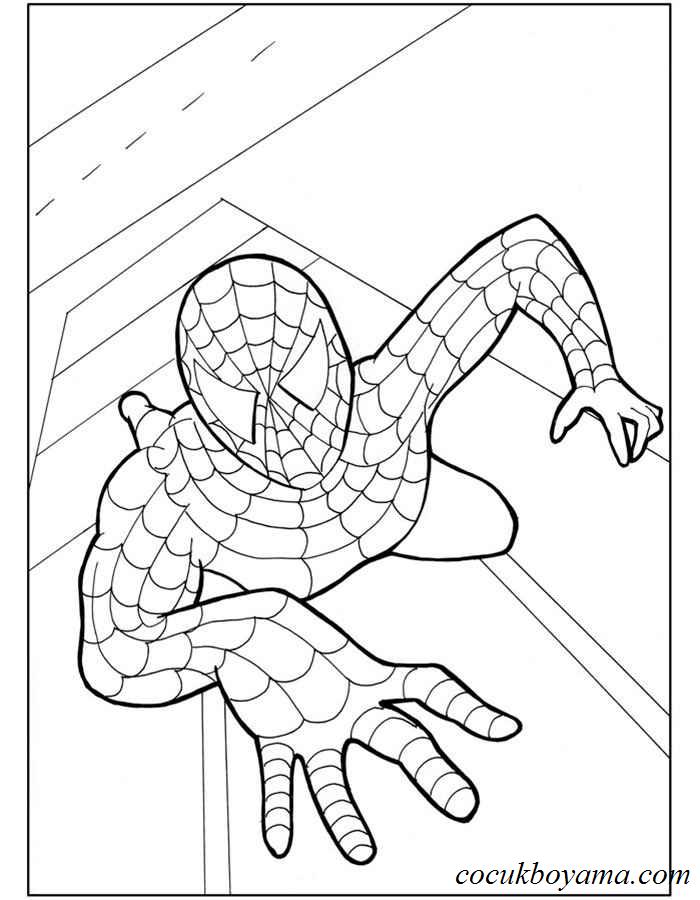 örümcek Adam 7 ücretsiz Boyama Resimleri