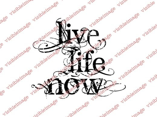 Visible Image Live Life Now stamp