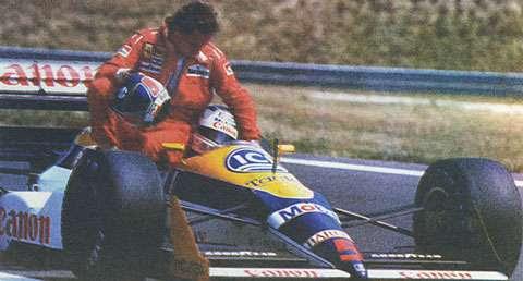 Grande Prêmio da Hungria de 1988: o inglês Nigel Mansell e o austríaco Gerhard Berger