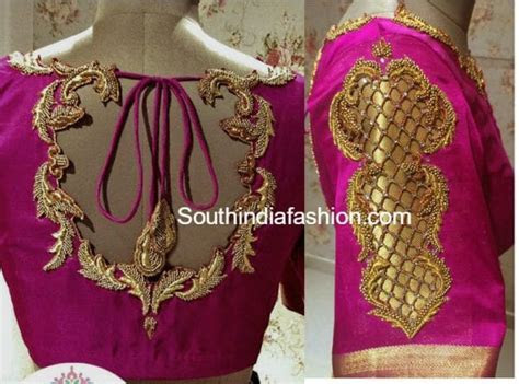 Beautiful Hand Embroidered Blouse Designs for Wedding Silk