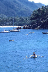 Josh Rowing His Dinghy