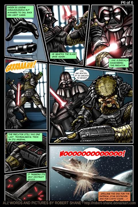 Darth Vader Vs Predator Comic