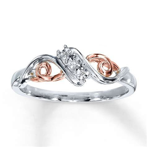 Diamond Ring 10K Rose Gold Sterling Silver   22885901   Kay