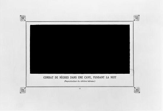 """Alphonse Allais, """"Combat des Negres dans une cave, pendant la nuit"""" (""""Negroes Fighting in a Cellar at Night"""") (1897)"""