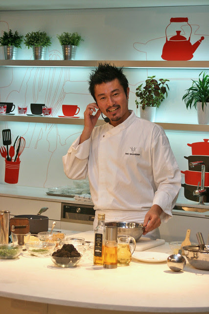 Chef Sho Naganuma speaks English very well, having spent time in the U.S.