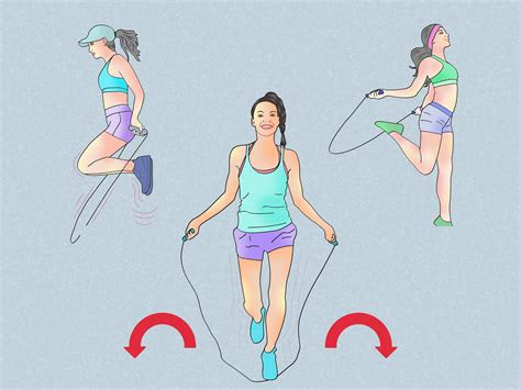ways  jump rope  weight loss wikihow