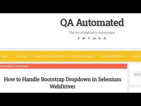 How to Handle Bootstrap Dropdown in Selenium WebDriver ~ QA Automated