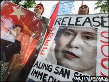 People Demand Release of Aung San Suu Kyi in Japan on 25 May