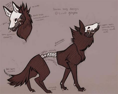 demon dog drawing