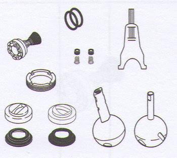 kitchen faucets: delta faucet company rp2932 repair parts