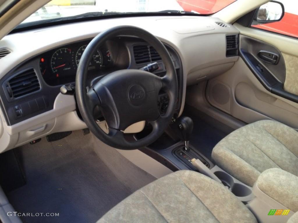 Beige Interior 2001 Hyundai Elantra GLS Photo #76631556 ...