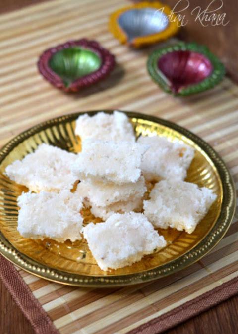 Coconut-Nariyal-Burfi-diwali-Recipe