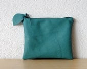 Leather Clutch in Teal Green Thick Cow Leather - iragrant