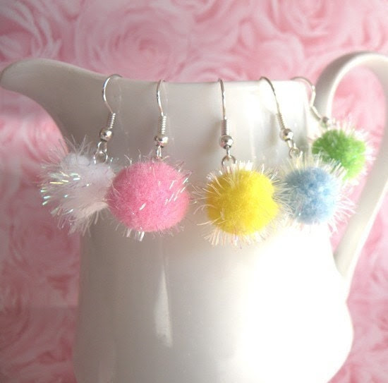 Sparkly Cotton Candy Earrings