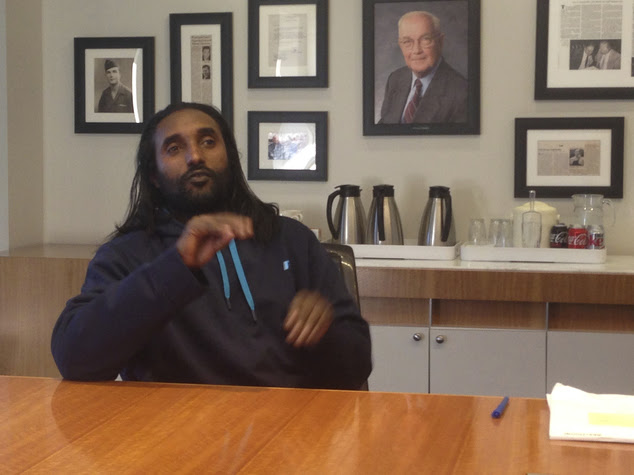 FILE - In this Feb. 27, 2015 file photo, Abreham Zemedagegehu, is seen at his lawyer's office in Washington. The Arlington County, Va. Sheriff¿s office is im...