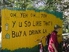 Drinks stall sign