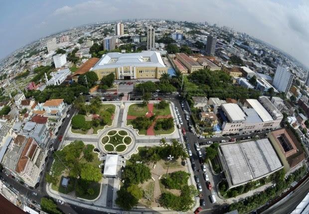 Praça do Congresso, no centro de Manaus, será restaurada (Foto: Alex Pazuello/Agecom)