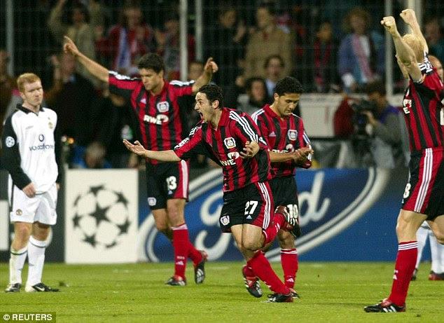 Manchester United Bayer Leverkusen 2002