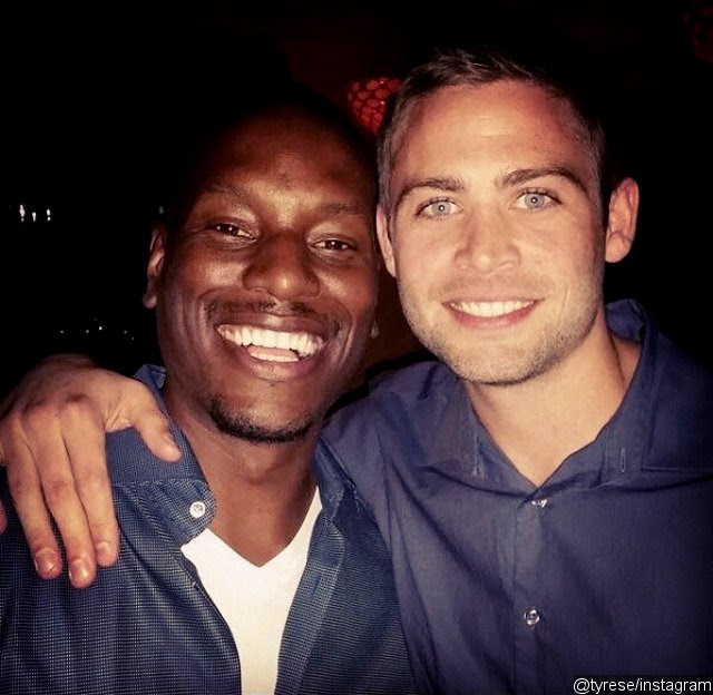Tyrese Gibson Poses With Paul Walker's Brothers at 'Fast and Furious 7' Wrap Party