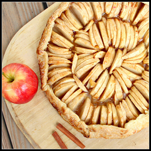 Maple-Glazed Apple Crostata