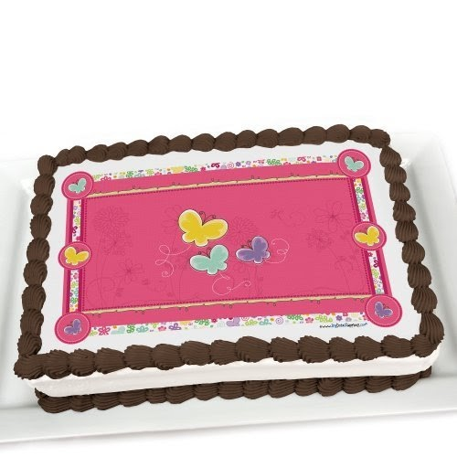 Cake Deco Mania : Girl Butterflies Baby Shower Cake Decorations Baby ...
