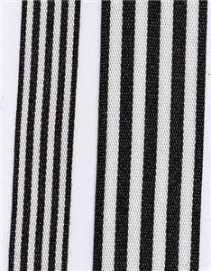 Fresh Stripe Ribbon - Black