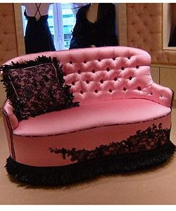 'Chantal Thomass pink loveseat Gorgeous!'
