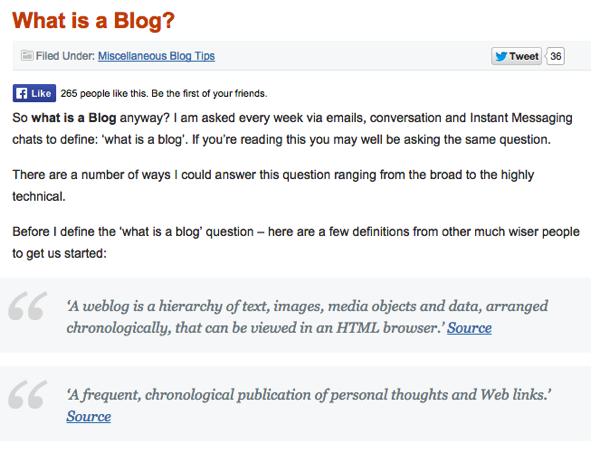 Beginner blogging question