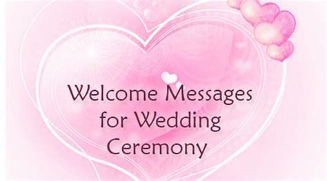 Welcome Messages for Wedding Ceremony