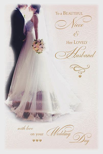 Niece & Her Lovely Husband Wedding Day Card