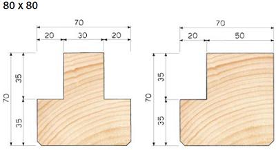 Murali abete a T e a L in abete e larice
