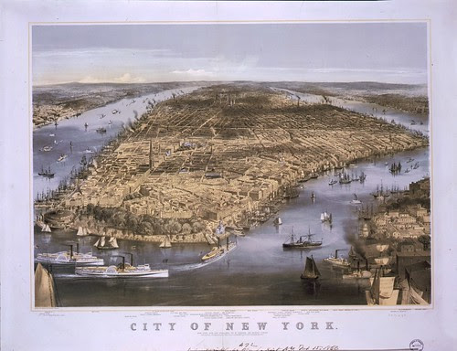 City of New York - sketched and drawn on stone by C. Parsons.