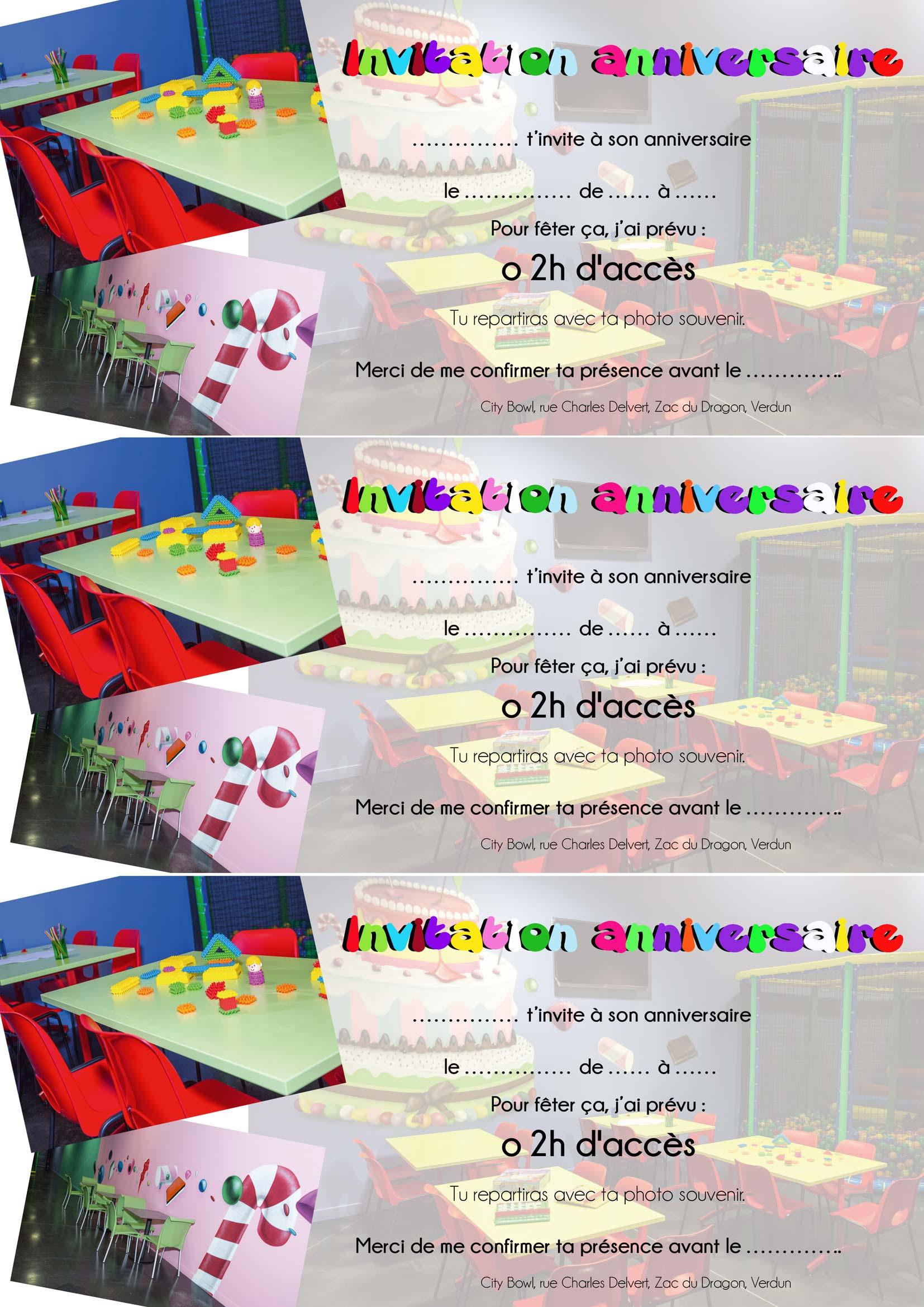 Modele Carte Invitation Anniversaire Bowling Actes