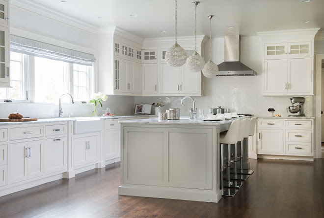 Pale Gray Island Paint Color, Kitchen with pale gray island paint color, Kitchen with pale gray island paint color ideas #Kitchen #palegrayisland #paintcolor Dalia Canora Design