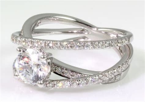 Criss Cross Engagement Ring by Cherie Dori. 76 Diamonds