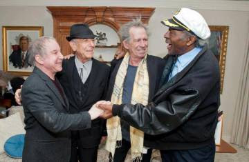 Paul Simon, Leonard Cohen, Keith Richards y Chuck Berry.