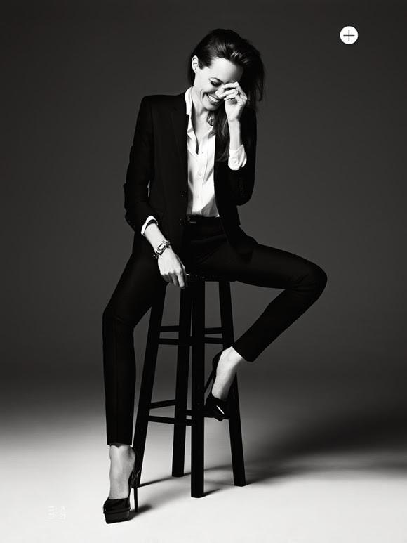 Angelina Jolie by Hedi Slimane Elle US 06