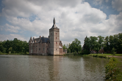 Castle with moat and stables