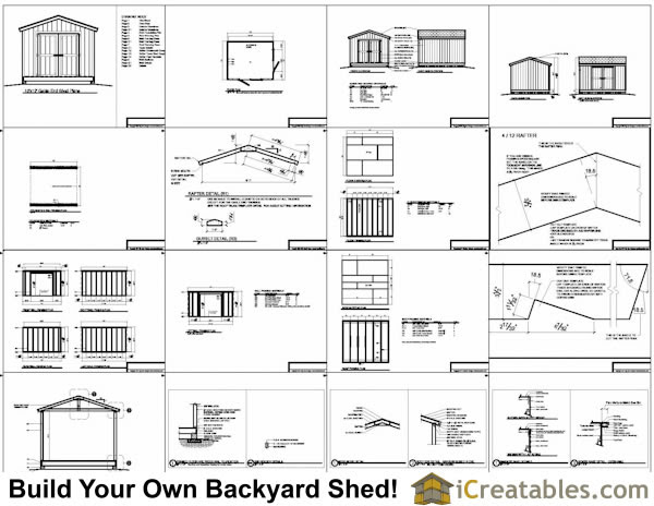Shed Building Plans 10x12 Gp