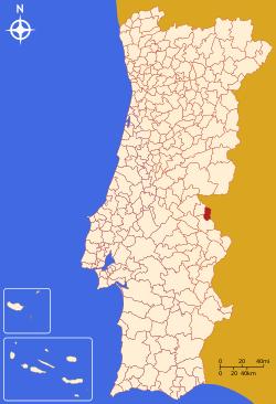 Localização de  Marvão
