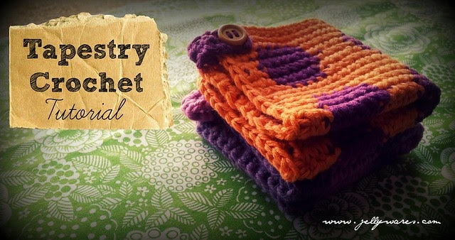 jellywares  tapestry crochet washer tutorial