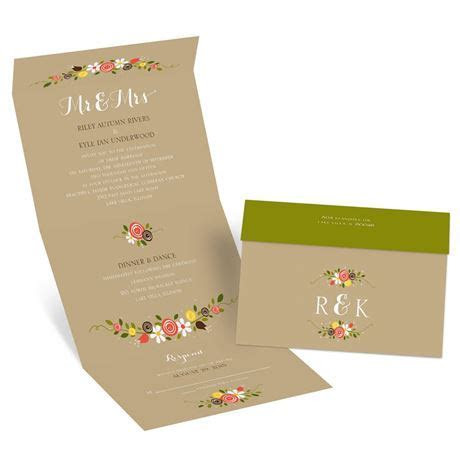 Perfect Posies Seal and Send Invitation   Invitations By Dawn