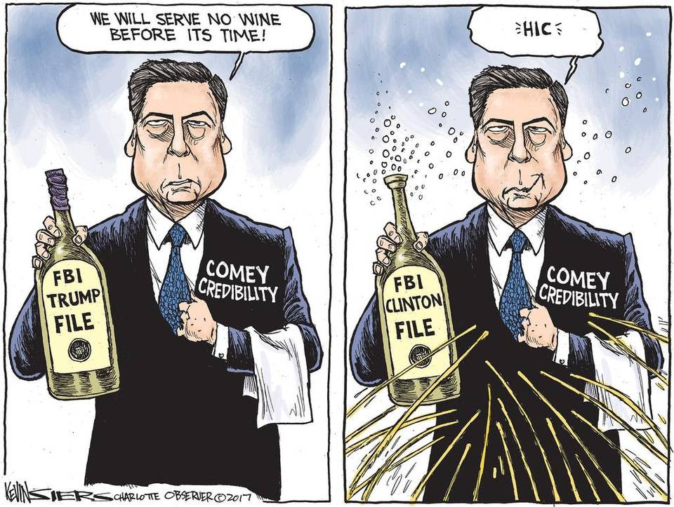 Image result for trump comey cartoons