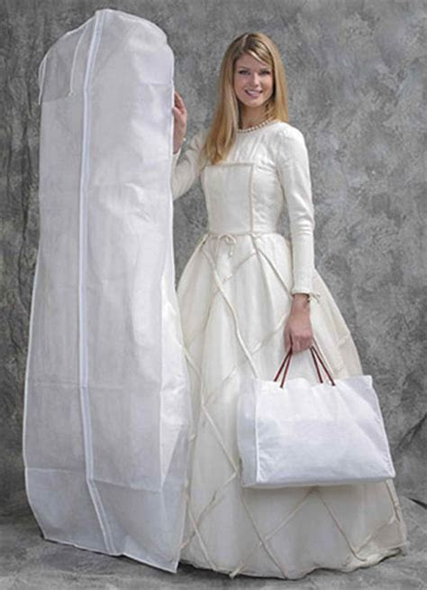 High Quality White Breathable Garment Bag, Wedding Dress