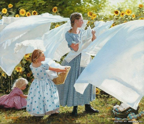 by Heide Presse  ( Mom and I worked together on the wash on laundry day :)  Good memory !)