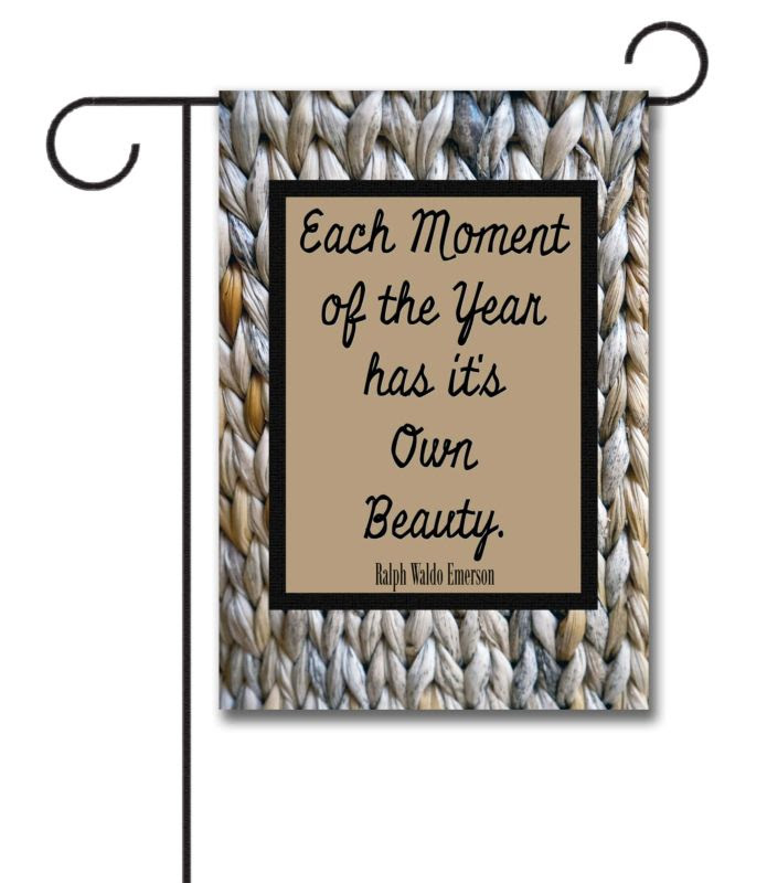 Wicker Quote Garden Flag 12.5 x 18 Custom Printed Flags Flagology.com