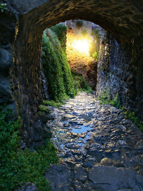 Ancient Passage, Monemvasai, Greece